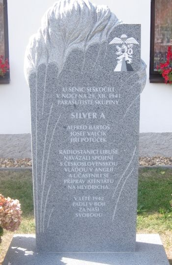 Memorial in Podébrady in honor of Operation Silver A.