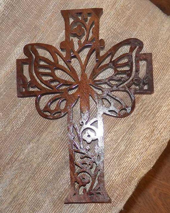 Butterfly Cross Butterfly Cross Stitch Wooden Cross