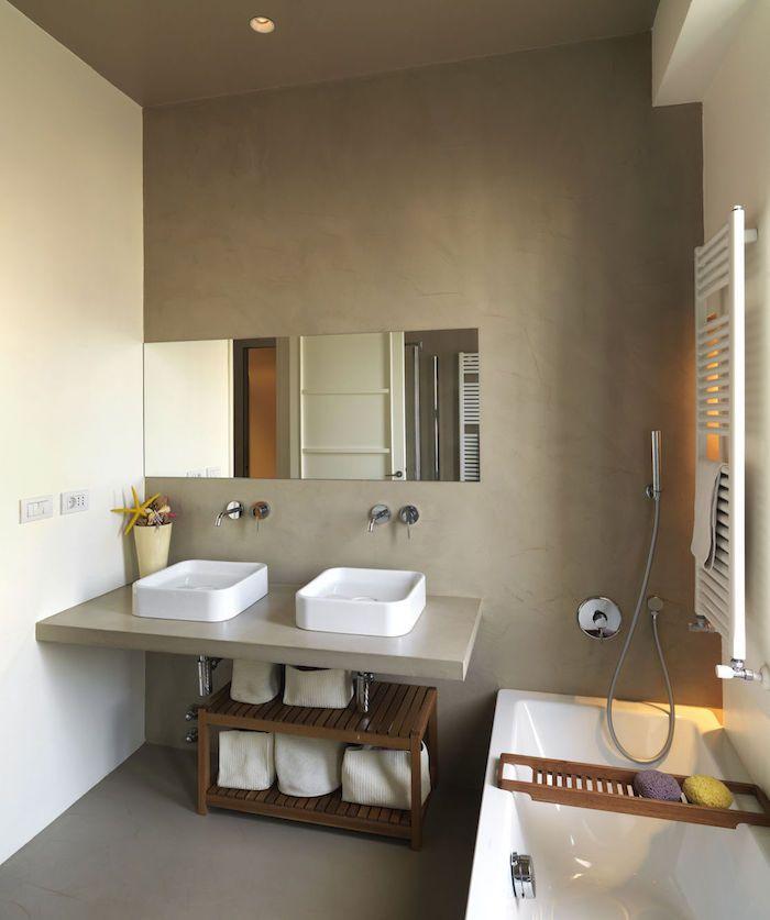 Salle de bain en béton ciré – brut de paume | Salle de bain | Modern ...
