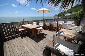 Boathouse, Puckpool, Isle of Wight.  Fabulous pub right next to the beach and Puckpool Park.