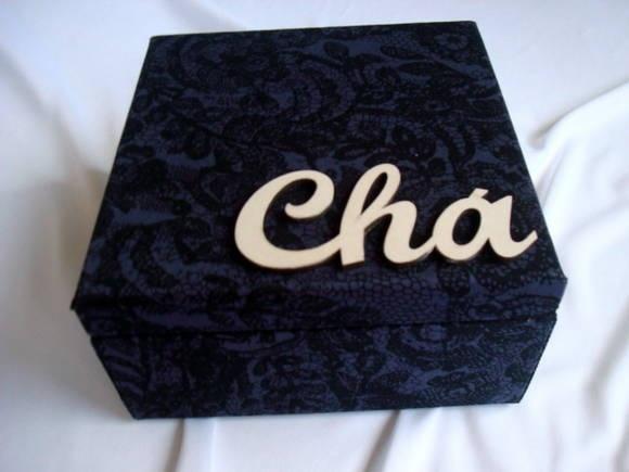 Caixa de chá Roxo Rendado  www.munayartes.com