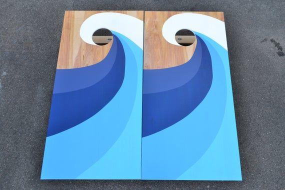 Solid Wood Non Painted DIY Cornhole Board Set ACA Certified /& Folding Legs