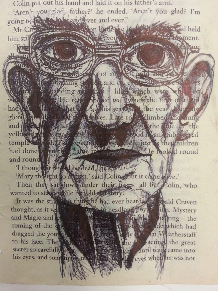 Biro drawing artist study. Year 10 Art and Design GCSE
