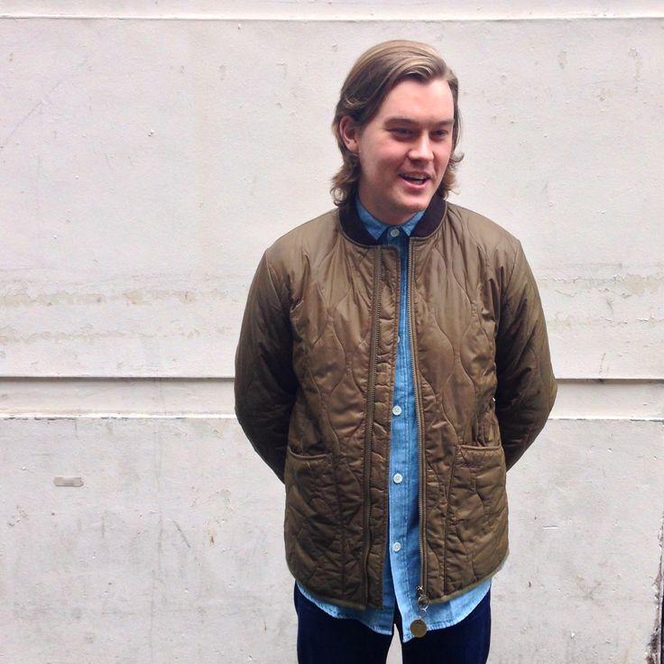 nike dunk filles - Chris wears; Universal Works Union Jacket in Work Blue, Edwin ...
