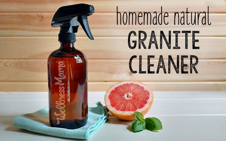 Keep granite countertops clean and shining without chemicals. One simple ingredient makes this homemade natural granite cleaner really work.