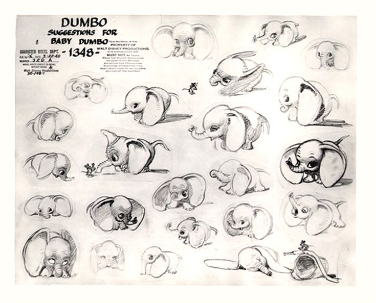 an original concept art thingy for dumbo