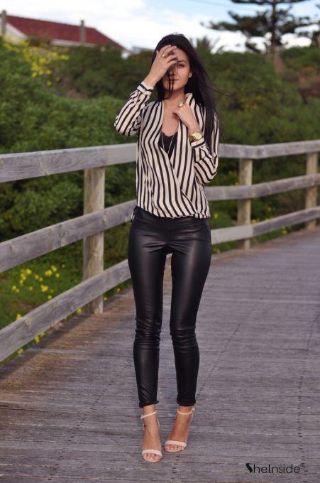 vertical stripes shirt