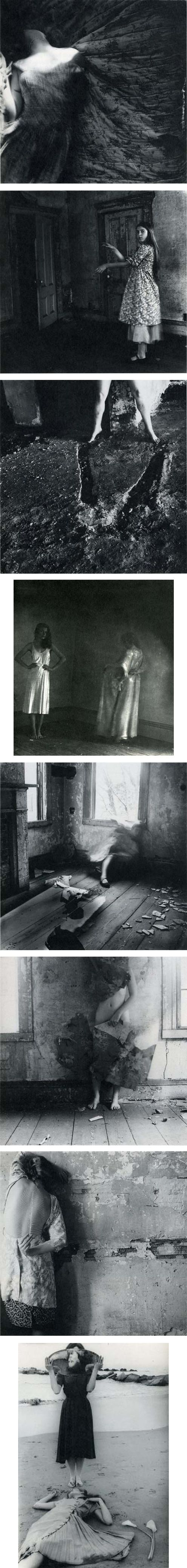 Francesca Woodman. Unfortunately, I have no idea if this is paint or photography, buts its beautiful.