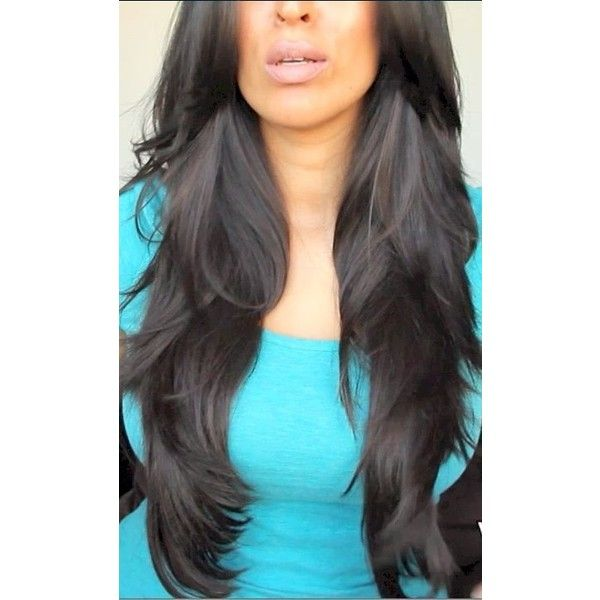 Diy Haircut Long Layers For All Hair Types Liked On Polyvore