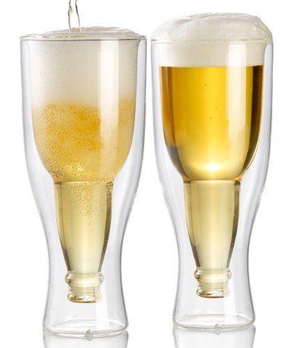 infactory Doble pared Taza de cerveza, 0, 2l im juego de 2 – Vidrio de cerveza hecha de cristal doble, el superficie de 0,2 l • Vidrio indeterminado: Esta cerveza de trigo, Kölsch, Pils, Alt, los gustos de cerveza oscura, … Leer más