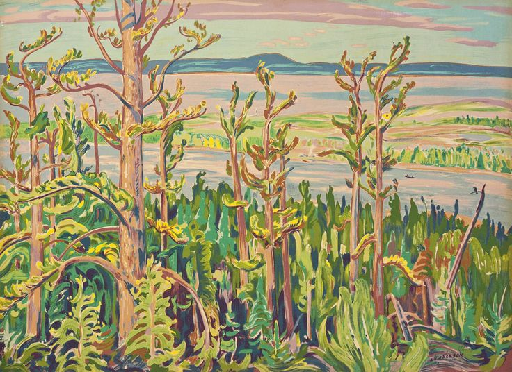 'Jack Pine', circa 1950, Sampson- Matthews silkscreen by Alexander Young Jackson at Mayberry Fine Art