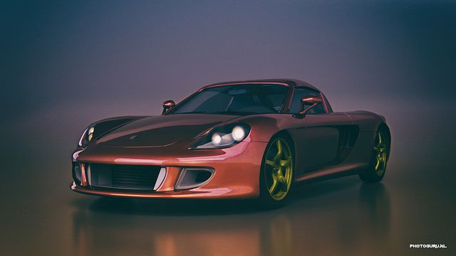 Porsche Carrera Gt designed in autodesk 3ds max and photoshop.