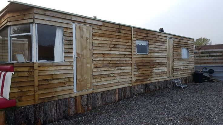 Static Caravan Clad In Wood Google Search Static