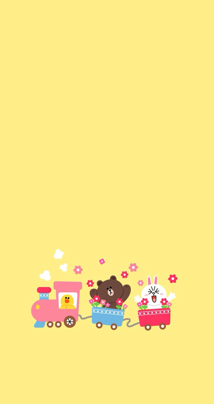 17 best images about line friends on pinterest for Wallpaper home line