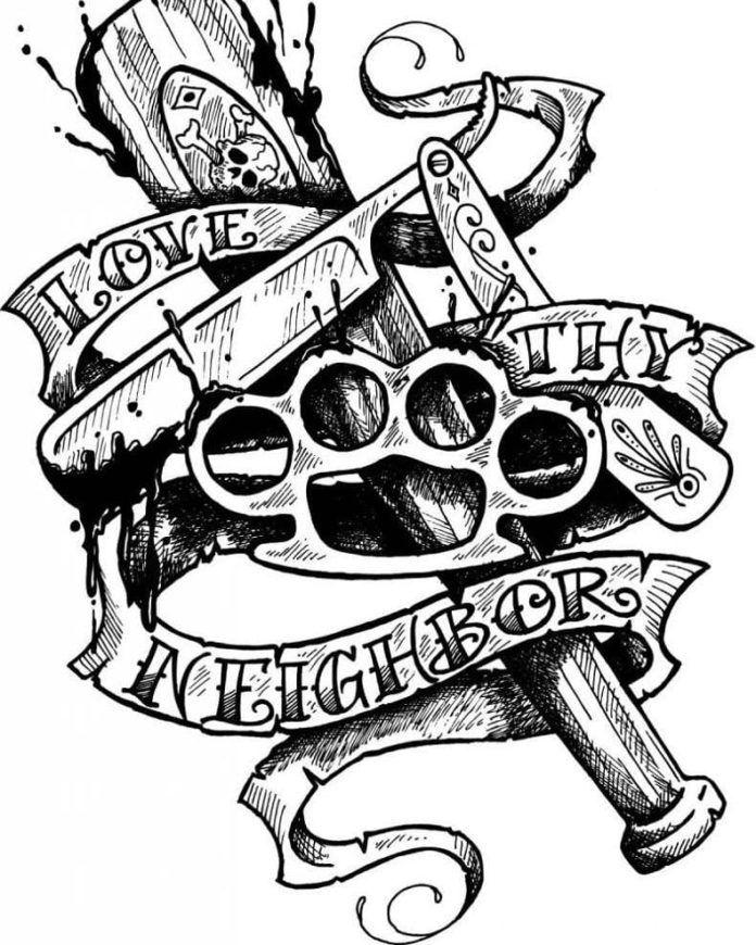 Gangster Tattoo Patterns : gangster, tattoo, patterns, Tattoo, Sketches, School, Tattoo,, Tattoos,, Flash