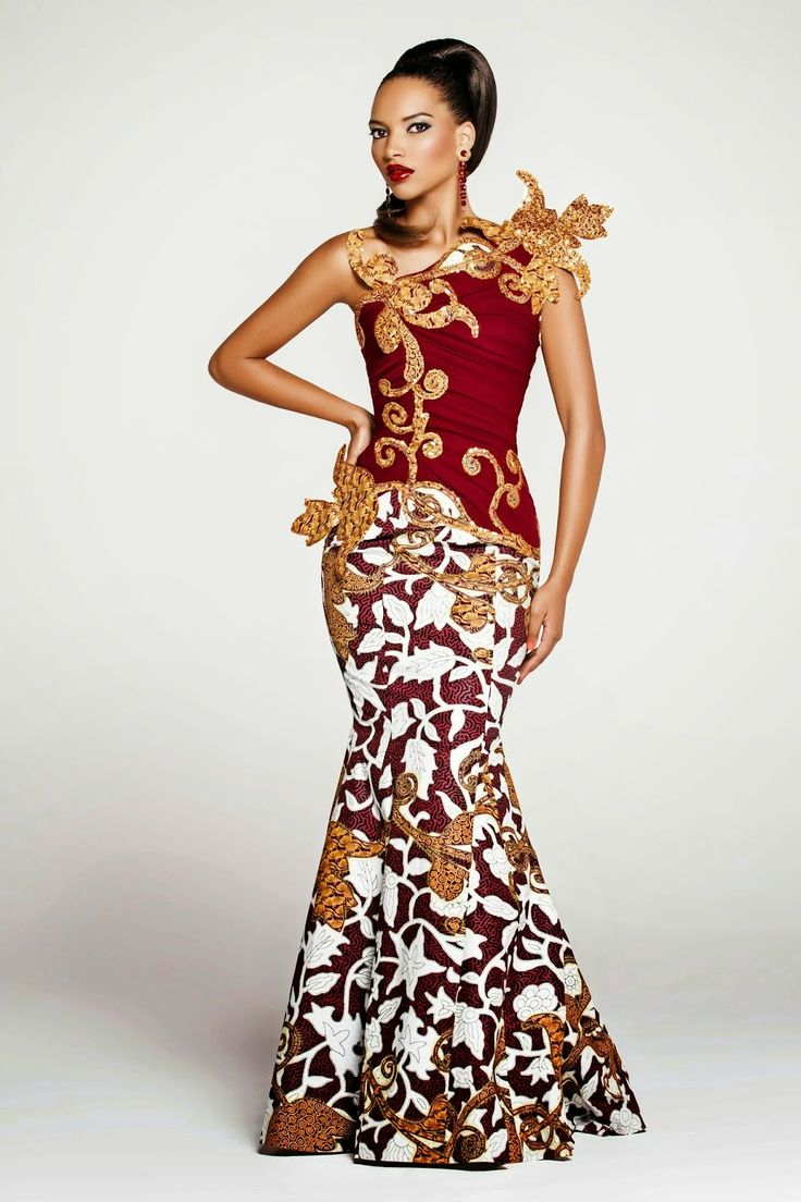 Couture africaine en pagne for Styles de robes africaines pour mariage