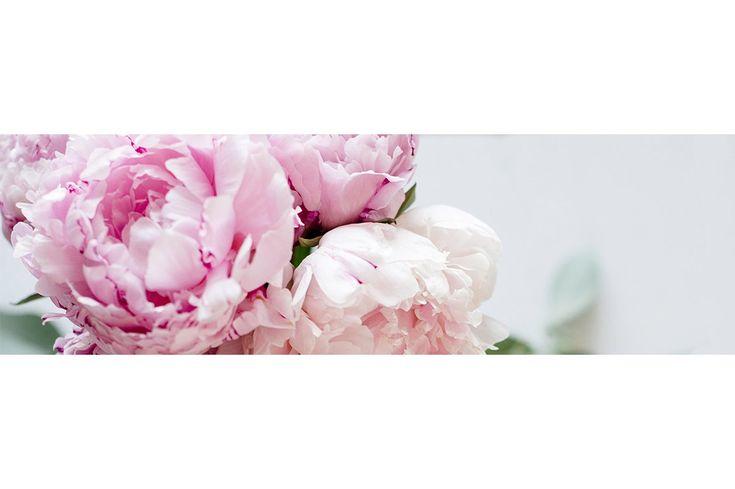 Floral Blog & Website Header Image - Web Elements