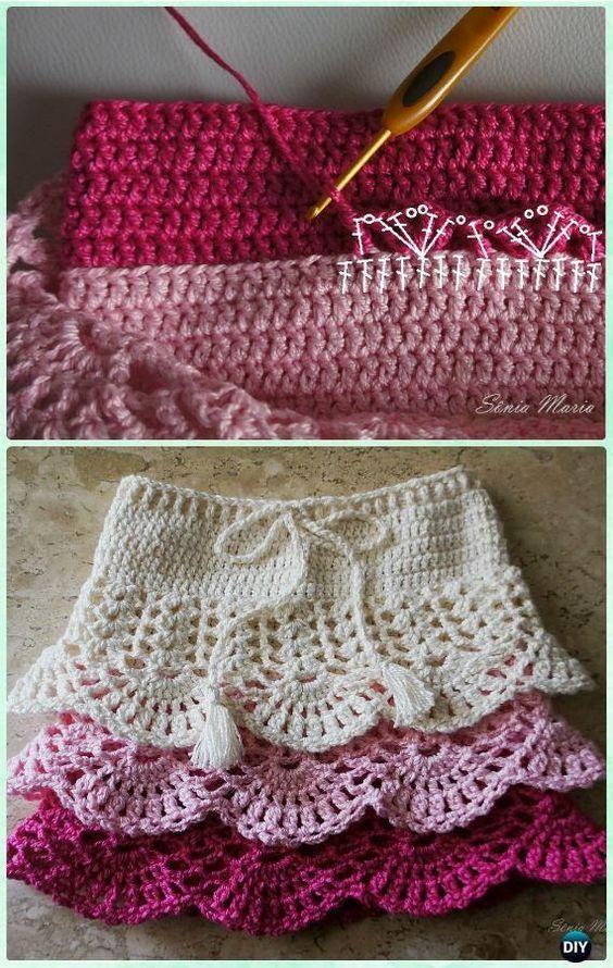 59687be4c Crochet Layered Shell Stitch Skirt Free Pattern [Video]- Crochet ...