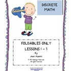 Discrete Math Unit Foldables Only with answer key. Three lessons covering Sequences, Series, and Mathematical Induction