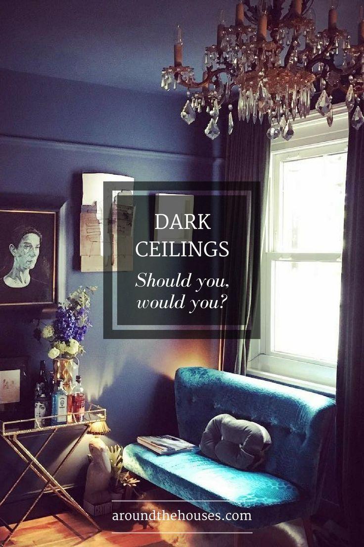 50 best Dark ceilings images on Pinterest | Black painted walls ...