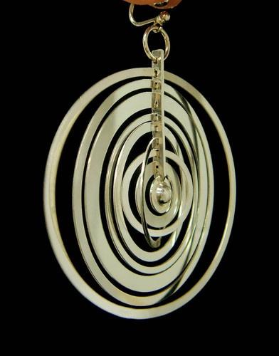 Unbelievably rare: 1971 Sterling Silver  kinetic hoop earrings designed by Tapio WIRKKALA  for Nils Westerback.: Design Vintage, Design Tapio, Deco Nouveau Vintage Modernist, Hoop Earrings, Kinetic Hoop, Earrings Design, Modernist Jewelry, Modernist Jewellery, Jewelrydesign Brooches