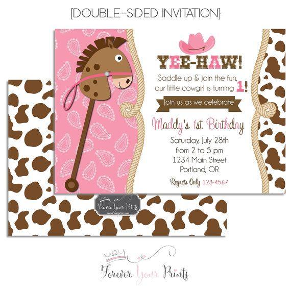 10 best invitaciones images – Cowgirl Birthday Invitation
