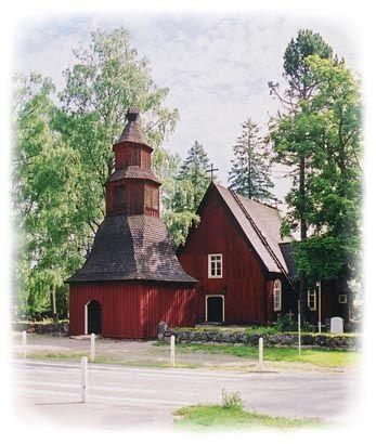 1700-luvun puolivälissä rakennettu Sammatin kirkko. Kuva: Lohjan kaupunki #Lohja #Finland