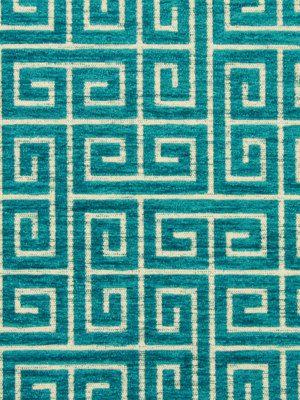 Turquoise Velvet Fabric  Greek Key Velvet  by greenapplefabrics, $35.00