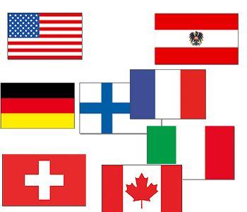 Apres Ski versiering vlaggen  Wintersport vlaggen pakket met de vlaggen van de 10 grootste wintersportlanden. Leuk voor apres-ski en wintersport feesten. Landen in het pakket zijn: - Oostenrijk - Zwitserland - Frankrijk - Italie - Duitsland - Canada - Noorwegen - Tsjechie - Amerika - Finland  Dit artikel bestaat uit: 1x Vlag Amerika / USA 90 x 150 cm 1x Vlag Duitsland 90 x 150 cm 1x Vlag Italie 90 x 150 cm 1x Vlag Oostenrijk 90 x 150 cm 1x Vlag Finland 90 x 150 cm 1x Vlag Zwitserland 90 x…