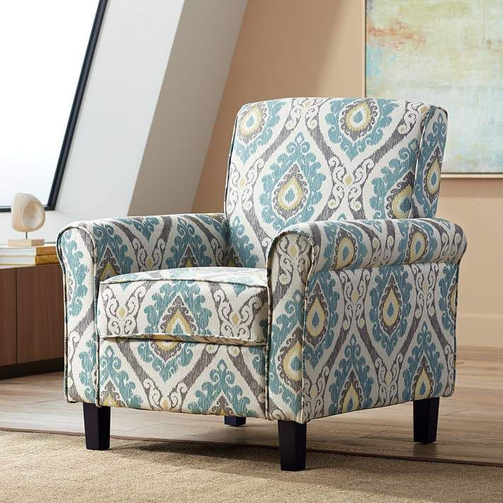Fabric Accent Chair Chairs, Patterned Living Room Chairs