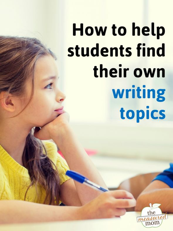 10 Ways to help kids find their own writing topics