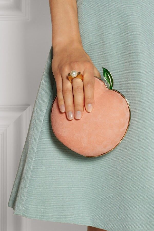 This Peach clutch is adorable