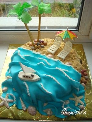 17+ best ideas about Beach Theme Cakes on Pinterest ...