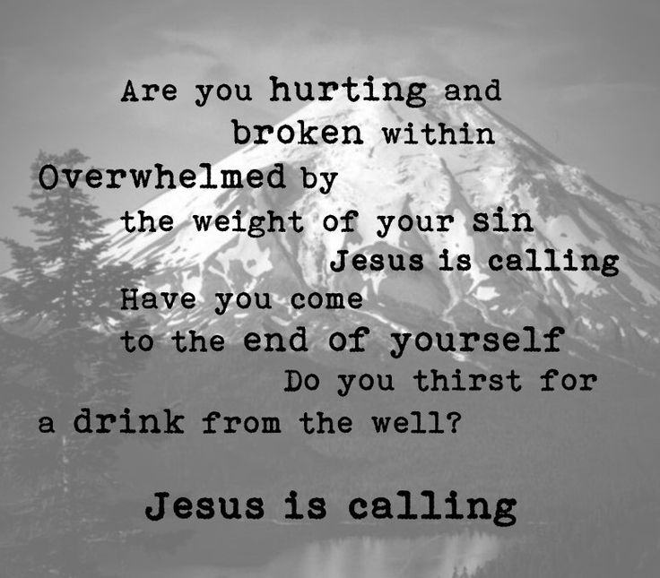 "O Come to the Altar- Elevation Worship lyrics  ""Are you hurting and broken within, overwhelmed by the weight of your sin? Jesus is calling.  Have you come to the end of yourself? Do you thirst for a drink from the well? Jesus is calling."""