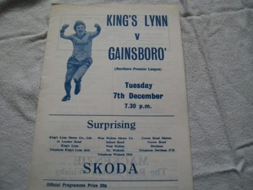King's Lynn FC v Gainsborough 7.12.82
