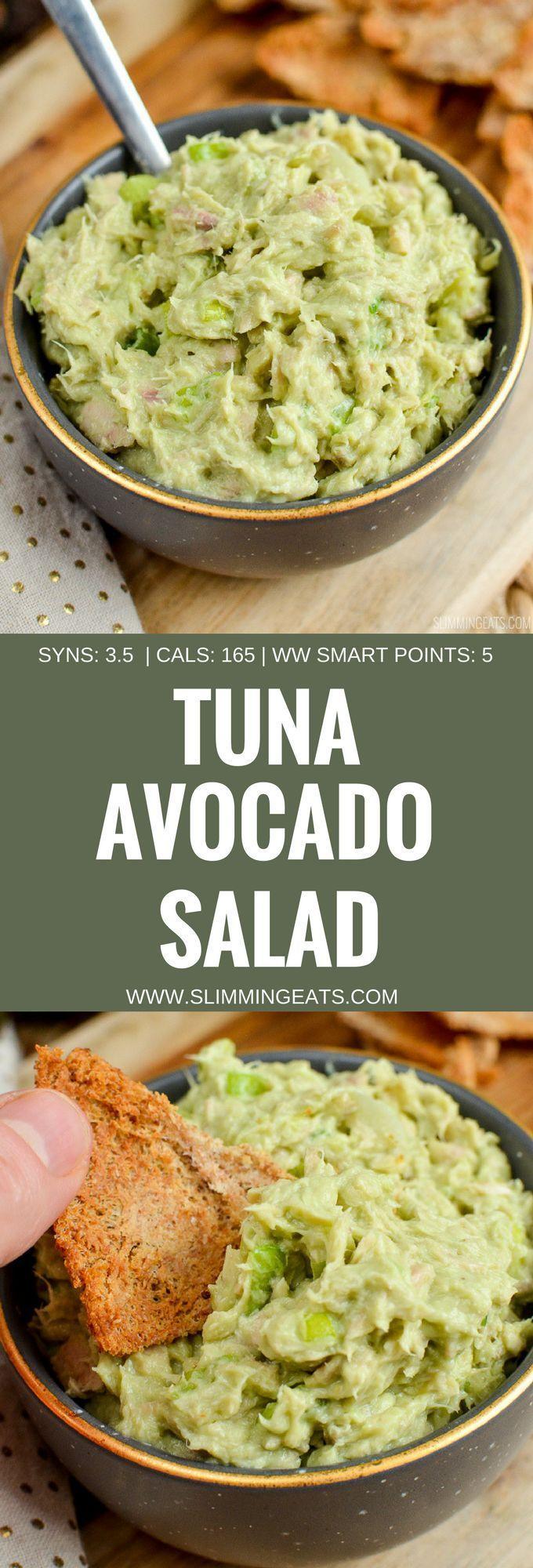 Slimming Eats Tuna Avocado Salad – gluten free, Slimming World and Weight Watche… – Gluten free