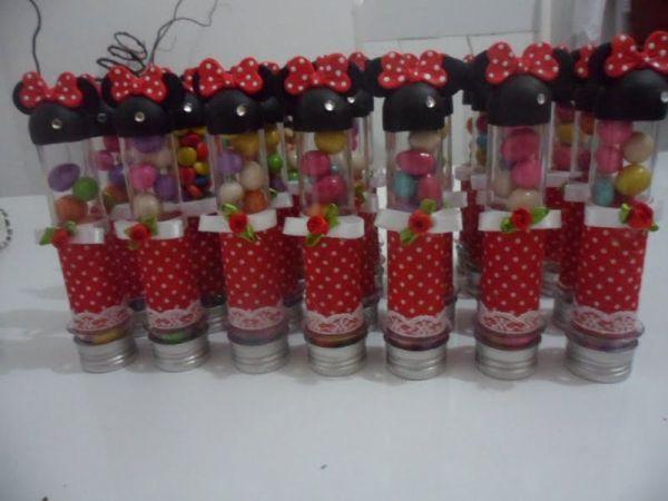 Tubetes da Minnie Vermelha