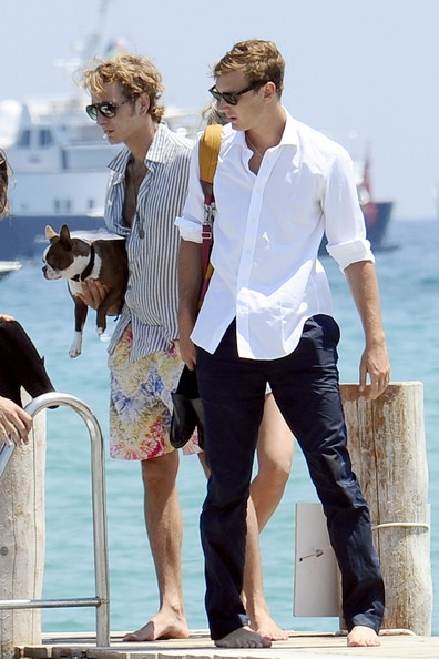 andrea & pierre casiraghi in St. Tropez