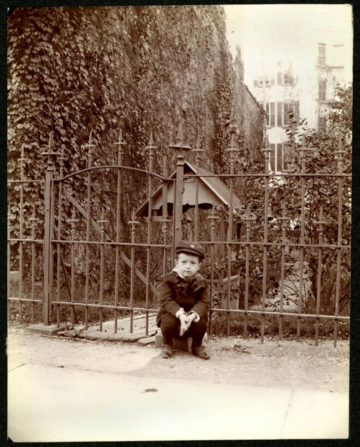 Unidentified Boy By The Well At 27 W 115th Street On North Side