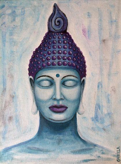 Boeddha schilderij  acrylverf gemaakt door van RingDesignNL op Etsy