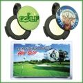 """Magnetic Hat Clip that strongly holds a custom 3/4"""" full color domed metal golf ball marker and clips to any ball cap, pocket or shoelace."""