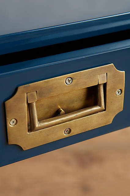 Lacquered Wellington Desk - anthropologie.com