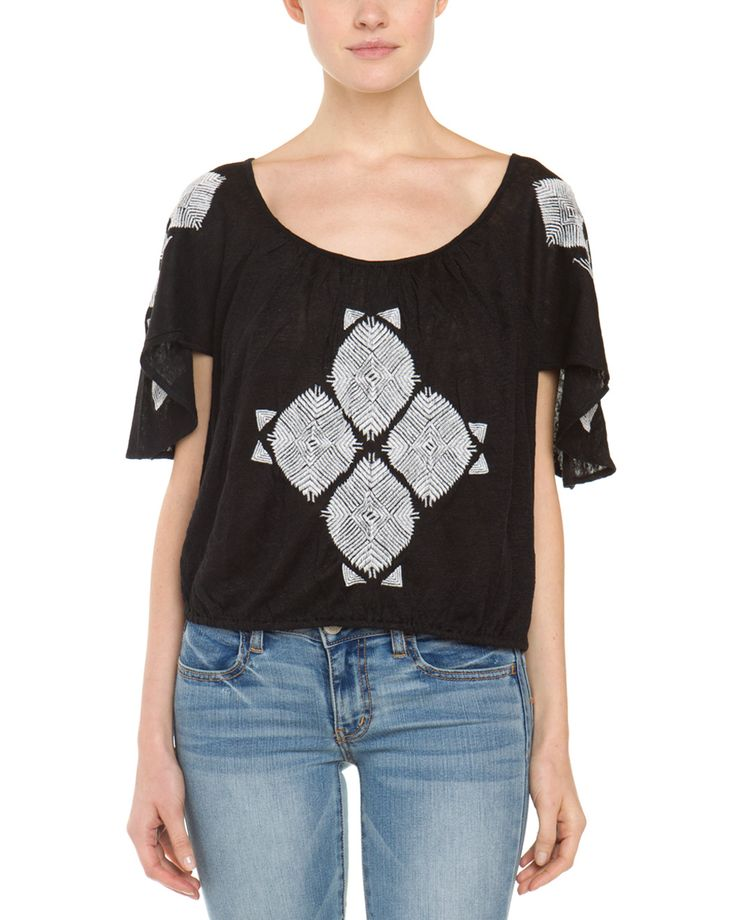 Spotted this Free People Ponce De Leon Black Combo Embroidered Top on Rue La La. Shop (quickly!).