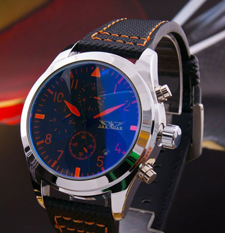 JARAGAR Herrenuhr Automatik Analog Datumsanzeige Herren Leder Armband Uhr Neu