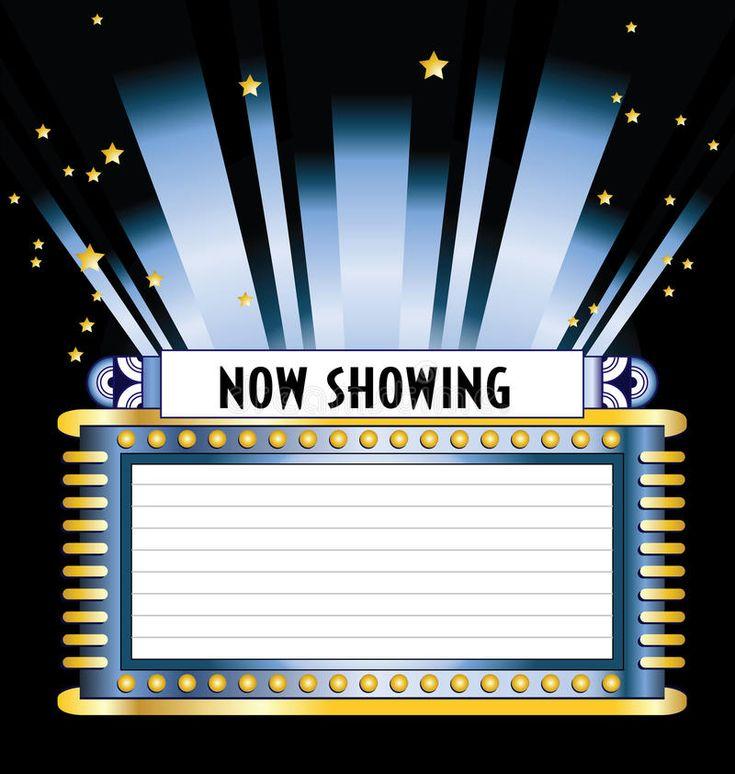 Broadway movie marquee vector illustration movie marquee
