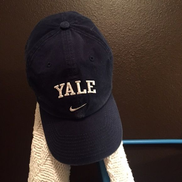 Nike Yale Hat Baseball hat, not snap back. Metal buckle for size adjustment. Dark blue in color. Yale written in white. Great condition! Nike Accessories Hats