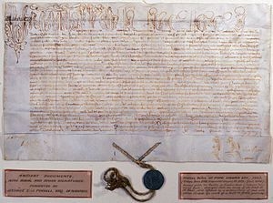 Cum universi (Latin: With the yoke) is a papal bull written by Pope Celestine III, issued on 13 March 1192. The bull ended the claim of the Archbishop of York to metropolitan jurisdiction in Scotland and established an independent national church, albeit one with no figurehead.