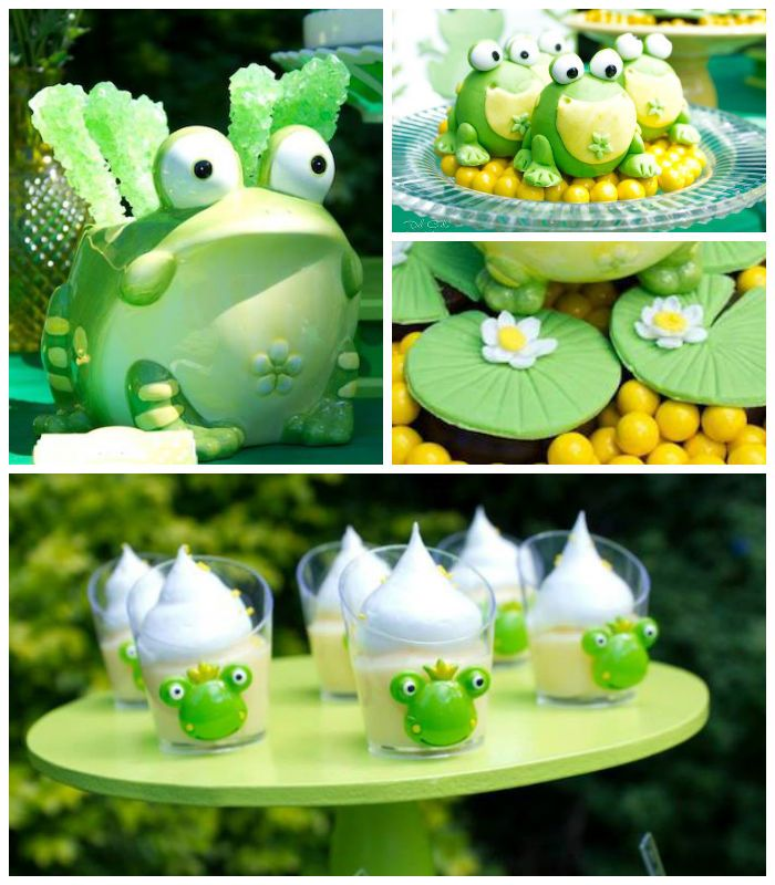 Frog themed birthday party with So Many Cute Ideas via Kara's Party Ideas | Full of decorating ideas, cake, cupcakes, favors, games, and MOR...