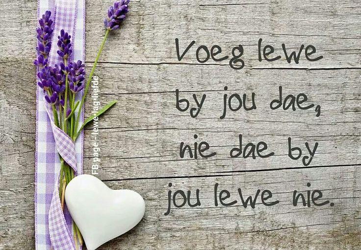 Lewe by jou dae