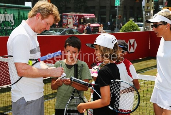 Tennis champions Jim Courier and...